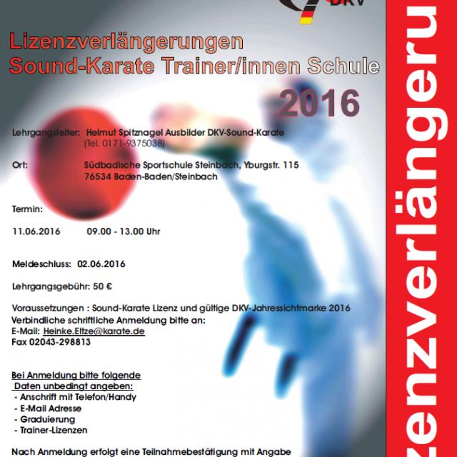Lizenzverlängerung Sound-Karate Trainer Schule