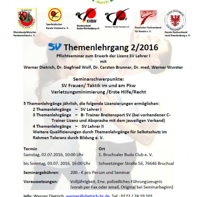 SV Themenlehrgang 2/2016
