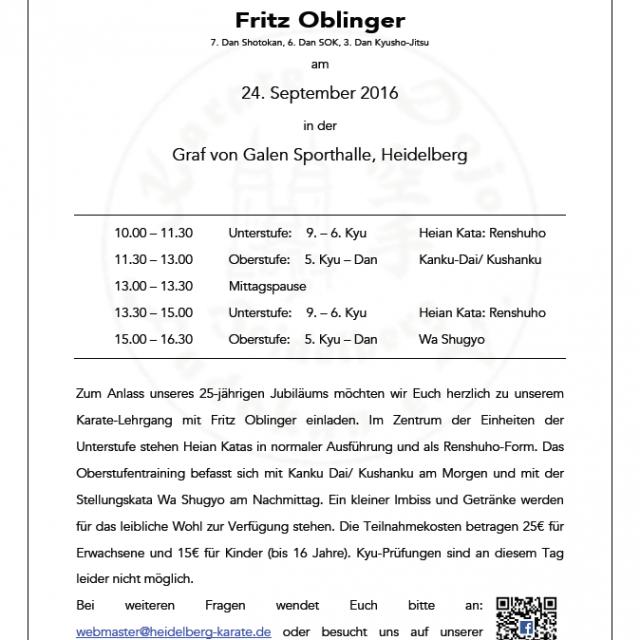 Fritz Oblinger in Heidelberg