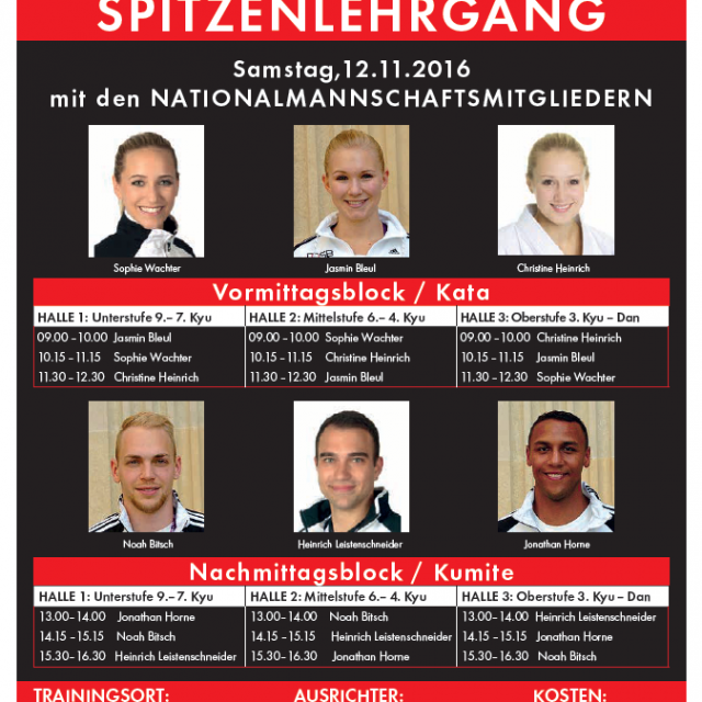 Karate mit dem Nationalteam