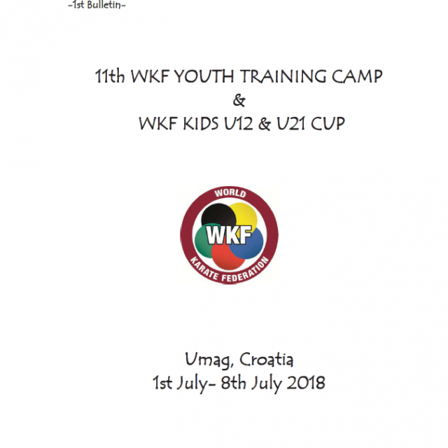 WKF Youth Training Camp & WKF Kids u12 & u21 Cup