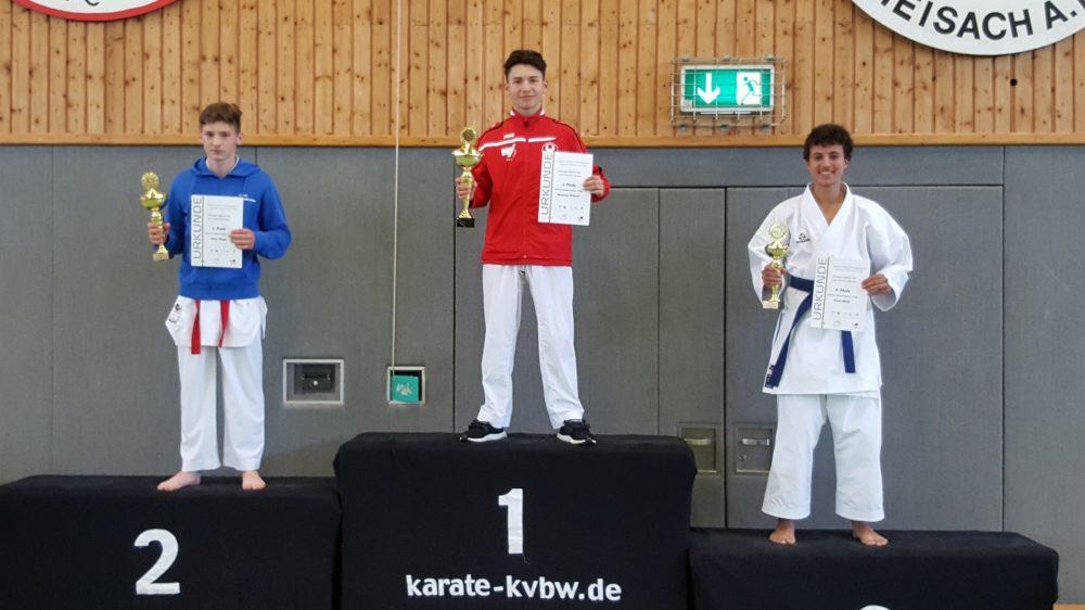 3 x Gold, Silber und Bronze bei LM