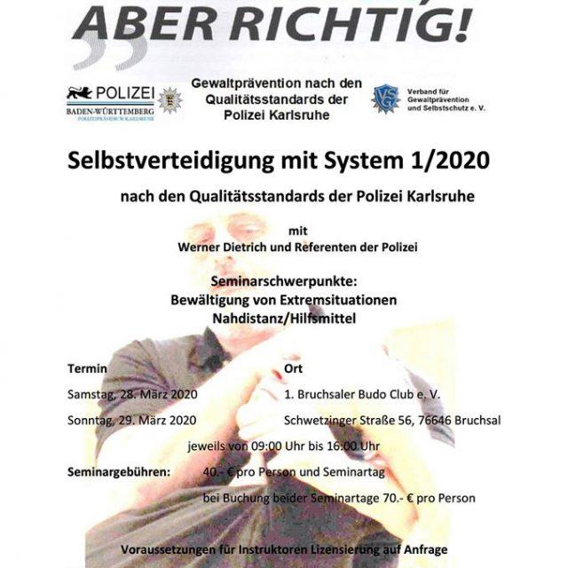 Selbstverteidigung mit System 1/2020
