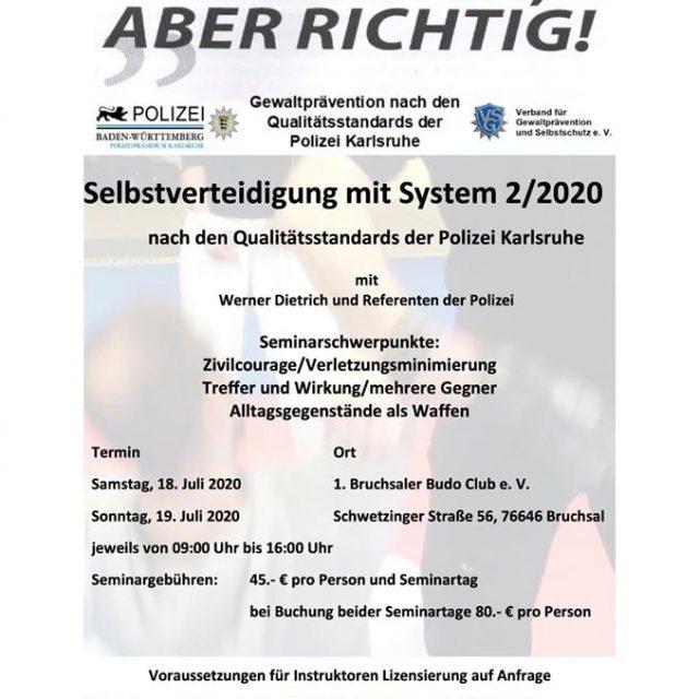 Selbstverteidigung mit System 2/2020